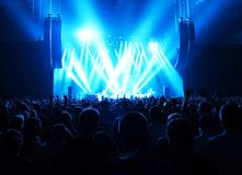 Music concert. With many visitors and spectacular lightning Royalty Free Stock Image