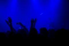 Music concert crowd, people enjoying live rock performance Stock Image