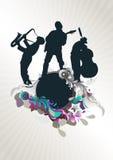 Music concert medallion Royalty Free Stock Image