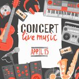 Music Concert Poster Royalty Free Stock Images