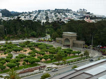 Music Concourse in San Francisco Golden Gate park. With the orchestra playing royalty free stock photo