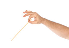 Music conductor hand Stock Image