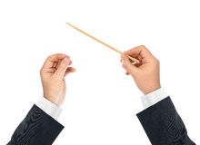 Music conductor hands Royalty Free Stock Photos