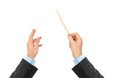 Music conductor hands Stock Photos