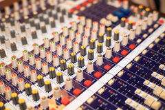 Music console Royalty Free Stock Image