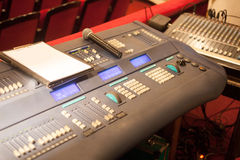 Music console in theater Royalty Free Stock Photos