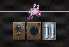 Music construction background art speaker. Vinyl plate record Stock Photography