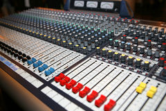 Music Control Panel Stock Photo