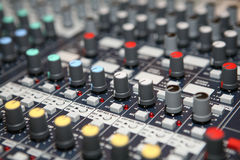 Music control panel Stock Images