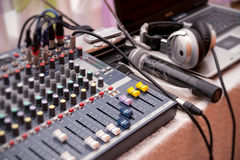 Music control panel device Royalty Free Stock Photo