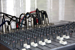 Music control panel device Stock Image
