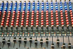 Music control panel device closeup Royalty Free Stock Photo