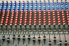 Music control panel device closeup Royalty Free Stock Photo