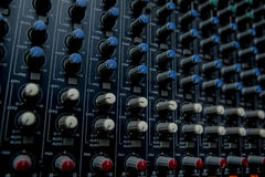 The music control station. Royalty Free Stock Images