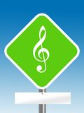 Music cord sign Royalty Free Stock Photos