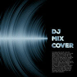 Music cover with waveform as a vinyl grooves. DJ mix cover with music waveform as a vinyl grooves Stock Images