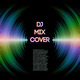 Music cover with waveform as a vinyl grooves Royalty Free Stock Photos