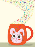 Music Cup Rabbit_eps Royalty Free Stock Photos