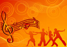 Music_dance_background Fotografia Stock