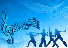 Music_dance_background_blue_color Royalty Free Stock Image