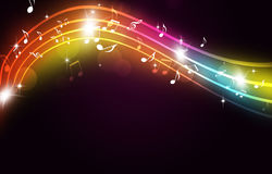 Music Dance and Party Multicolor Background Stock Photos