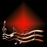 Music in the dark Royalty Free Stock Photo