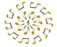 Music design. For CD cover or background Royalty Free Stock Photos
