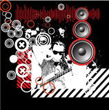 Music design background grunge Royalty Free Stock Images