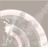 Music design background with saxophone Royalty Free Stock Image