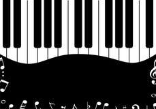 Music design Black piano mirror Stock Image