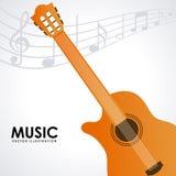 Music design. Music concept design, Vector illustration Stock Photography