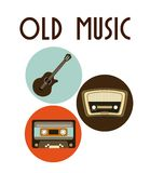 Music design. Music concept design, Vector illustration Royalty Free Stock Photo