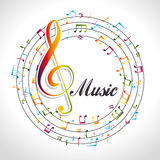 Music design. Royalty Free Stock Images