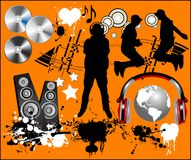 Music design elements. Royalty Free Stock Photography