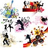 Music design elements Royalty Free Stock Photos