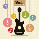 Music design Stock Image