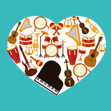Music design over blue background vector illustration Royalty Free Stock Photography