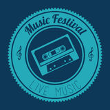 Music design over blue background vector illustration Stock Photos