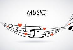 Music design Stock Image
