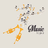 Music design over gray background vector illustration Stock Images
