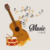 Music design over gray background vector illustration Stock Photography