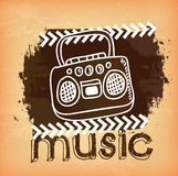 Music design Royalty Free Stock Images
