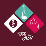 Music design over purple background vector illustration Stock Images