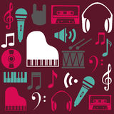 Music design over purple background vector illustration Royalty Free Stock Photography