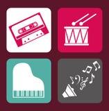 Music design over purple background vector illustration Stock Photos