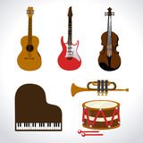 Music design Stock Photography