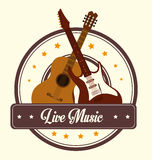Music design over white background vector illustration Royalty Free Stock Photos