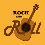 Music design over yellow background vector illustration Royalty Free Stock Photography