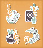 Music design paper cut elements Royalty Free Stock Photos