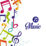Music digital design. Royalty Free Stock Photo